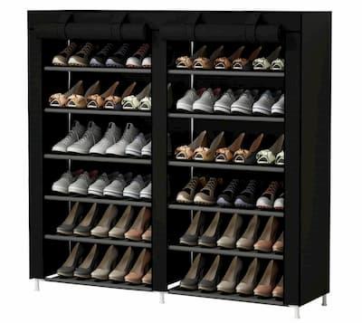 60 x 70,5 x 29,5 cm con 4 estantes Edaygo Zapatero Organizador de Zapatos para 16 Pares de Zapatos